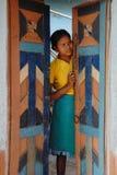 青年期女孩农村的印度 图库摄影