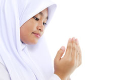 青年穆斯林祷告 库存图片