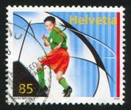 青年足球运动员 免版税库存图片