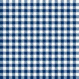 青方格的桌布的样式不断地 免版税库存图片