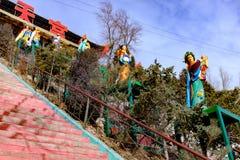 青海西宁:巨大kunlun九天的圣徒- MaLong菲尼斯山 免版税库存图片