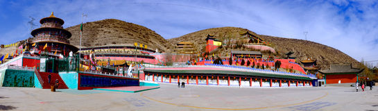 青海西宁:巨大kunlun九天的圣徒- MaLong菲尼斯山 库存照片