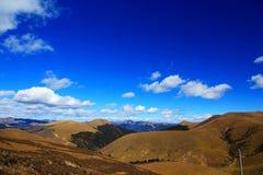 青海西藏高原秋天秀丽  免版税库存图片