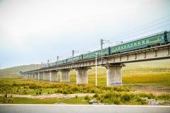 青海铁路西藏 库存照片