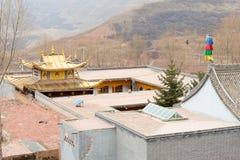 青海,中国- 2015年4月03日:Ta的第14个达赖喇嘛出生地 免版税图库摄影
