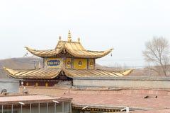 青海,中国- 2015年4月03日:Ta的第14个达赖喇嘛出生地 免版税库存图片