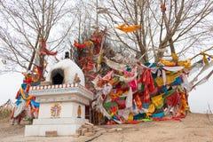 青海,中国- 2015年4月03日:Taktser村庄 村庄  免版税库存照片