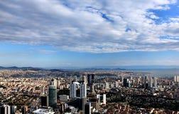 从青玉塔的全景在伊斯坦布尔,土耳其 库存图片