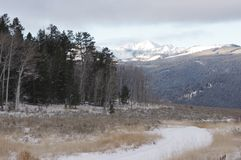 青玉山在蒙大拿在冬天 图库摄影