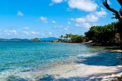 青玉海滩圣托马斯, US-VI 免版税库存照片