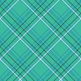青绿的背景检查无缝的织品纹理 向量例证