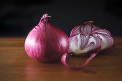 青葱,葱菜,红洋葱 免版税图库摄影