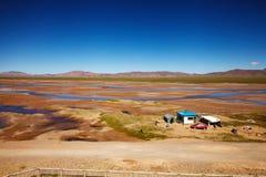 青藏高原的前哨基地 免版税库存照片