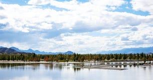 青藏高原02的美好的风景 库存图片
