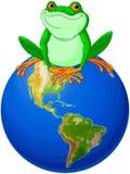 青蛙世界地球日 免版税库存图片
