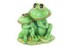 青蛙两个雕象  库存照片