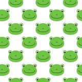青蛙传染媒介样式,无缝的样式,平的青蛙动画片背景 库存例证
