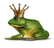青蛙侧视图王子 免版税库存图片