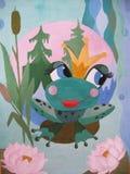 青蛙公主童话的图画 免版税库存图片