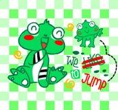 青蛙动画片飞跃  库存照片