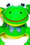 青蛙可膨胀的池玩具 免版税库存照片