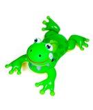 青蛙可膨胀的池玩具 库存图片