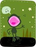 青蛙唱歌 库存图片
