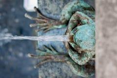 青蛙喷泉 图库摄影
