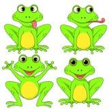 青蛙在传染媒介EPS 10的白色背景设置了 库存照片