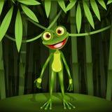 青蛙在密林 向量例证