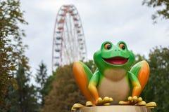 青蛙在游乐园 库存照片