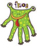 青蛙型手 免版税库存照片
