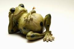 青蛙放松 免版税库存照片