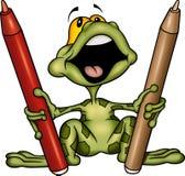 青蛙标记 皇族释放例证