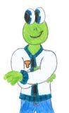 青蛙滑稽的托马斯 免版税库存照片