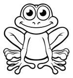 青蛙漫画人物 免版税库存照片