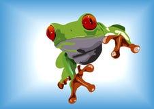 青蛙绿色 皇族释放例证