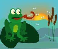 青蛙蚊子 向量例证