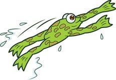 青蛙跳跃的动画片 免版税库存图片