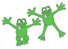 青蛙跳 免版税图库摄影