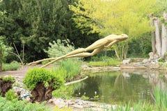 青蛙雕象  库存图片
