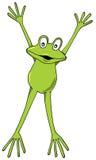 青蛙飞跃 免版税库存照片