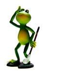 青蛙高尔夫球使用 免版税图库摄影