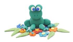 青蛙黏土 免版税库存照片