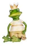 青蛙-有金冠的公主 图库摄影