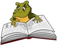 青蛙读者 库存照片