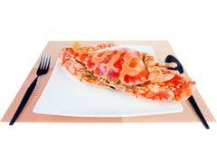 青蟹,隔绝在白色背景 免版税库存图片