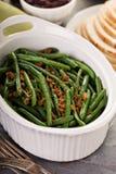 青豆用感恩或圣诞晚餐的烟肉 免版税库存图片