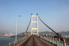 青马大桥在香港 免版税图库摄影