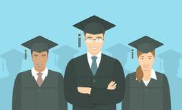 青年人毕业生学士学位平的概念 库存图片